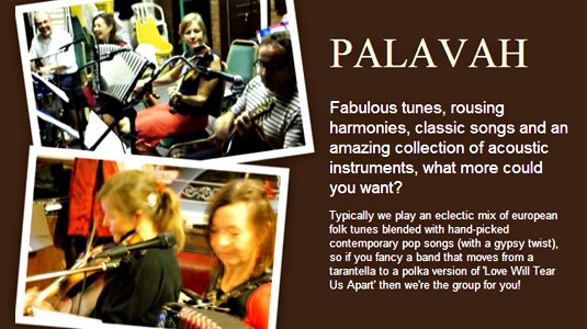About the band Palavah